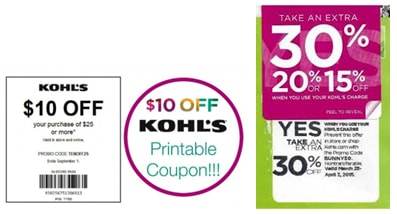kohls coupons printable