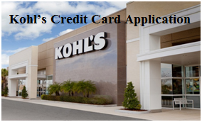 Kohl's Pre Approved Credit Card Application