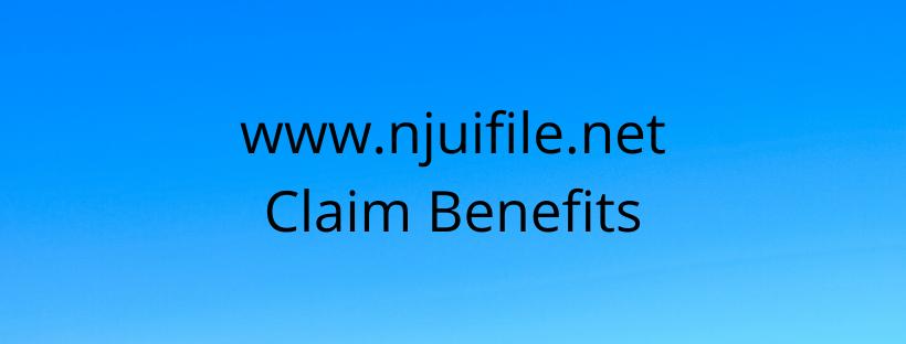www.njuifile.net Claim Benefits